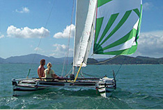 catamaran charter for camping in Phuket