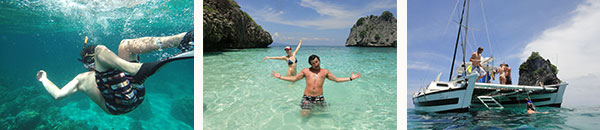 yacht charter catamaran to paradise islands koh ha yai