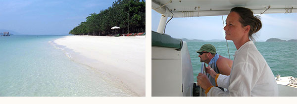 deserted beaches during your boat charter in Phuket